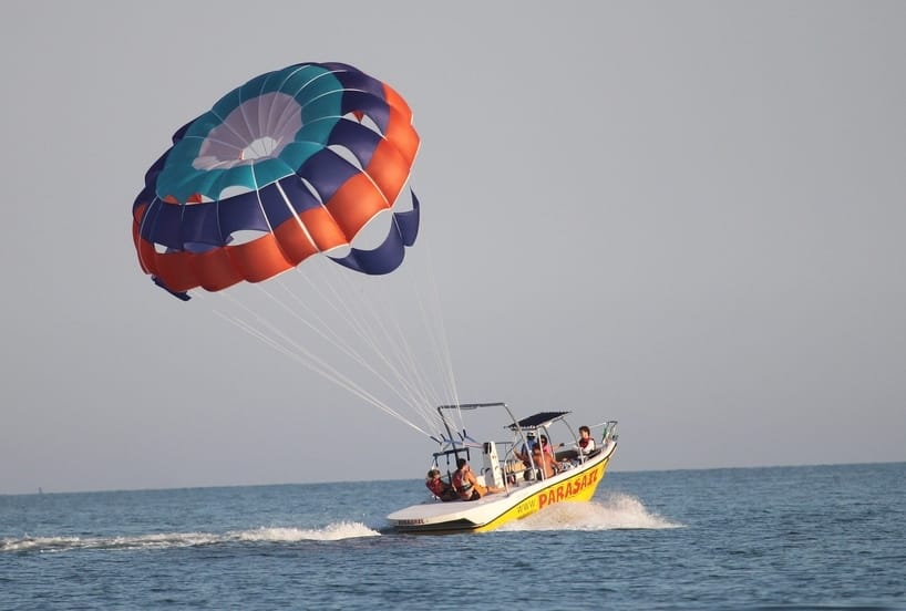 Parasailing in coast punta cana
