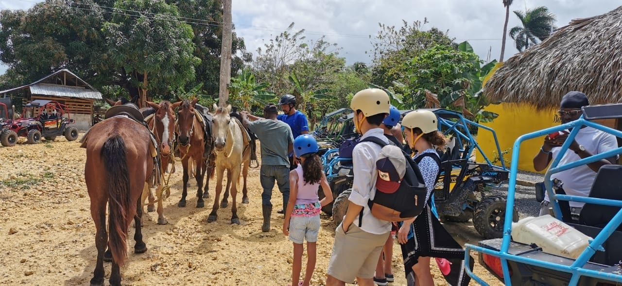 horse riding with kids in Punta Cana